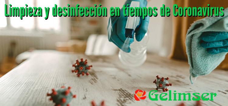 Consejos para la desinfección del hogar en tiempos de coronavirus