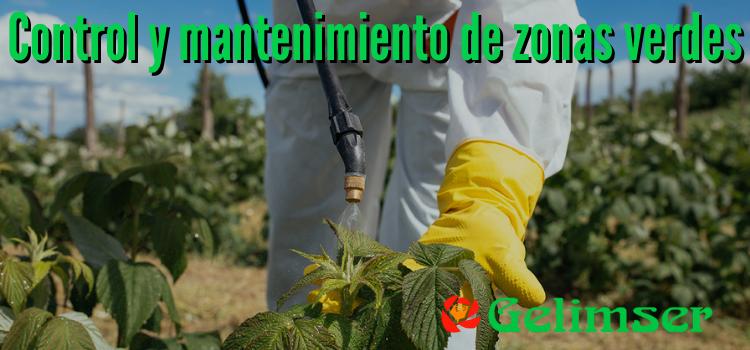 Control y mantenimiento de zonas verdes