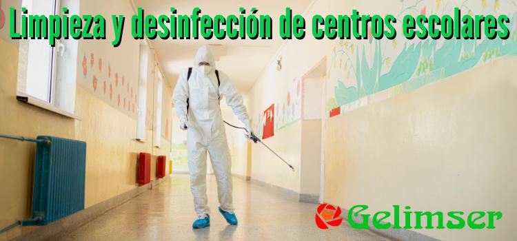 Especialistas en limpieza y desinfección de colegios e institutos